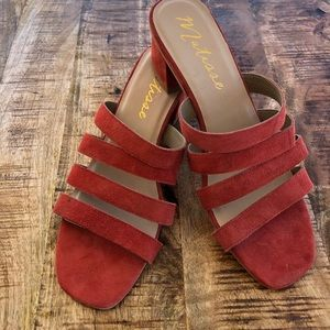 Matisse Bettina Leather Sandals Coral